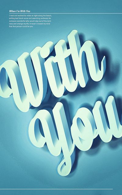 When I'm With You — OPTIC.,#design