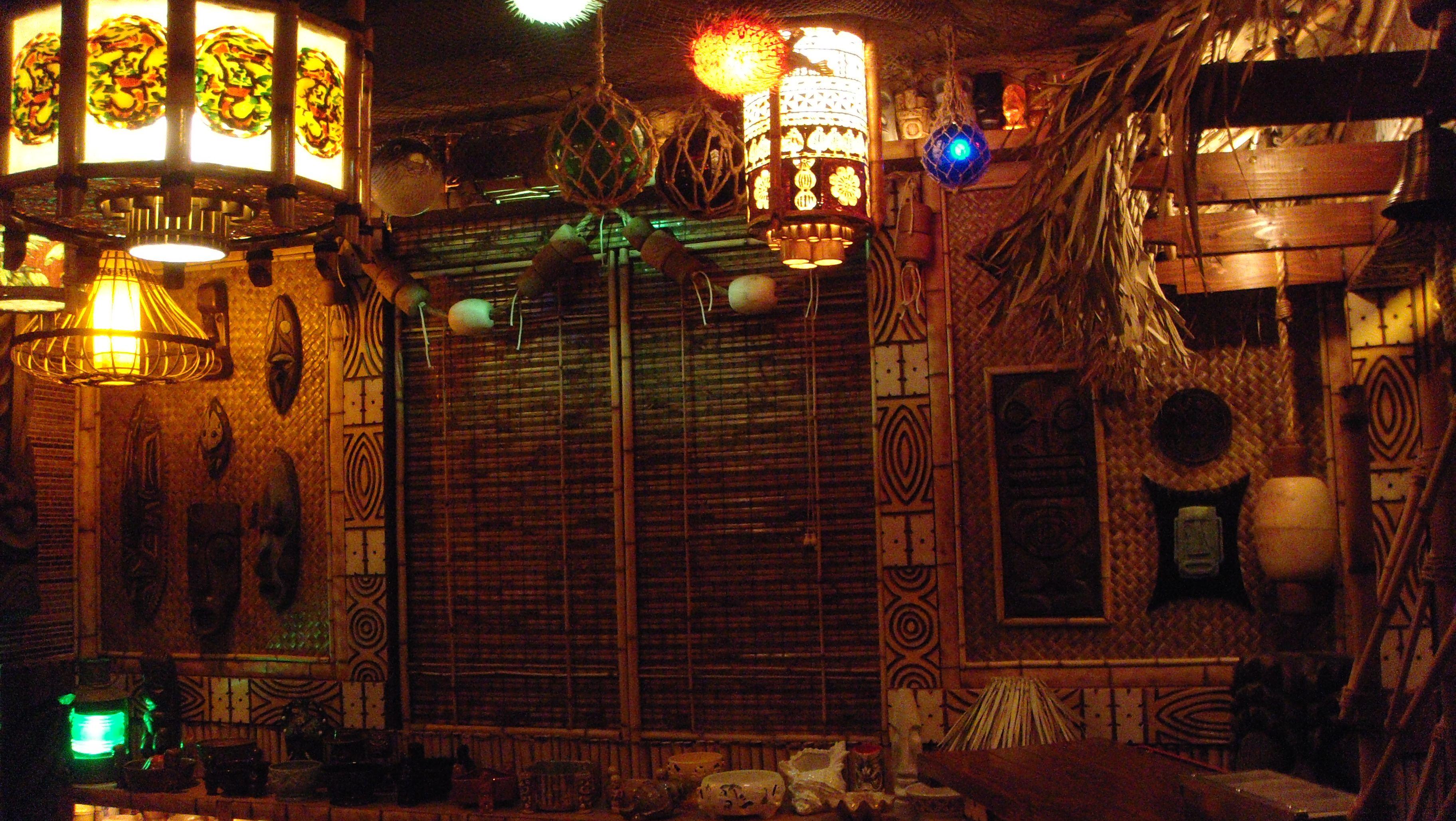 Tiki bar decor at home readers photos of their tiki for Tiki room decor