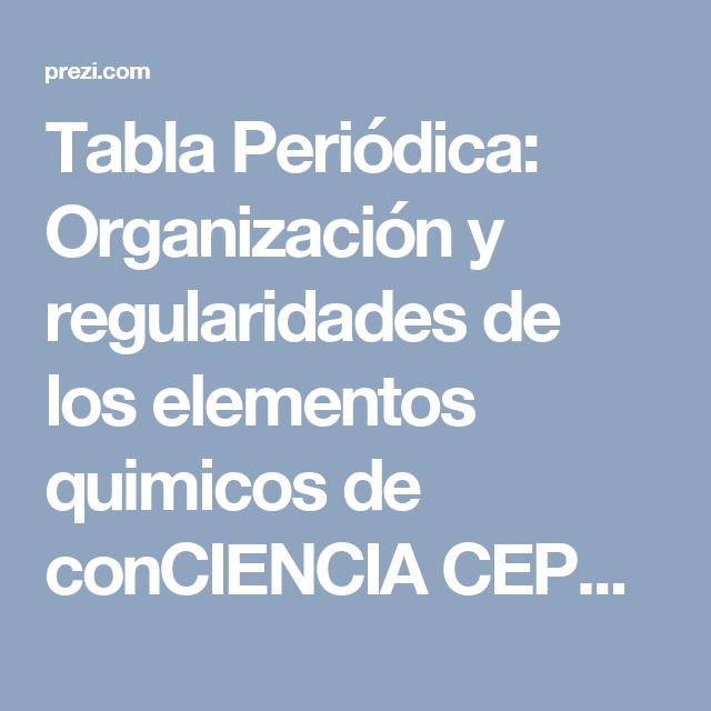 Tabla peridica organizacin y regularidades de los elementos tabla peridica organizacin y regularidades de los elementos quimicos de conciencia cepgdo secundaria vespertina en urtaz Gallery