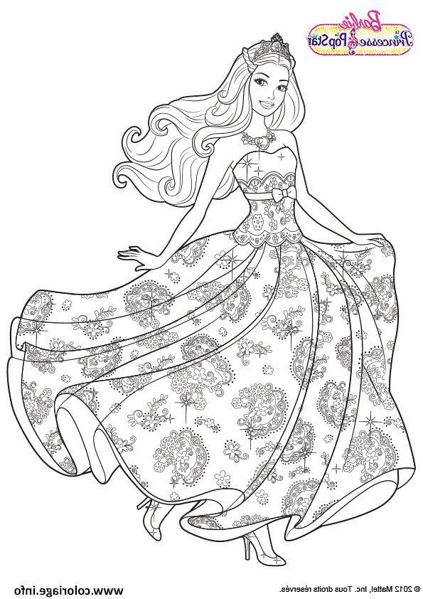 Coloriage Barbie Princesse La Pop Star Dessin En 2020 Coloriage Princesse Coloriage Barbie Coloriage