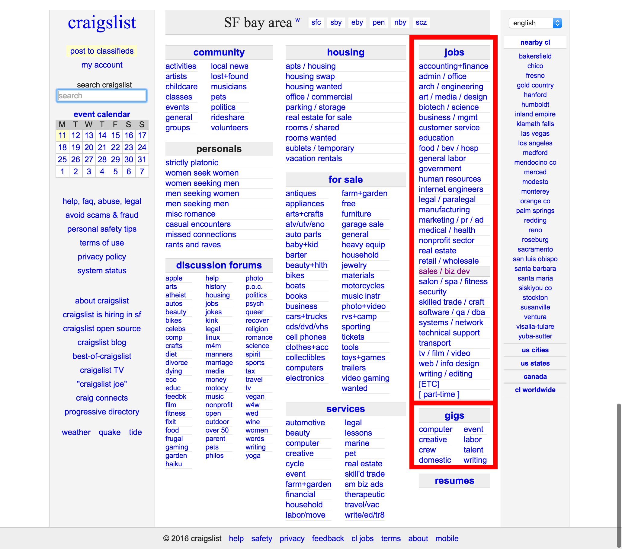 Craigslist Job Class Pet Job Search