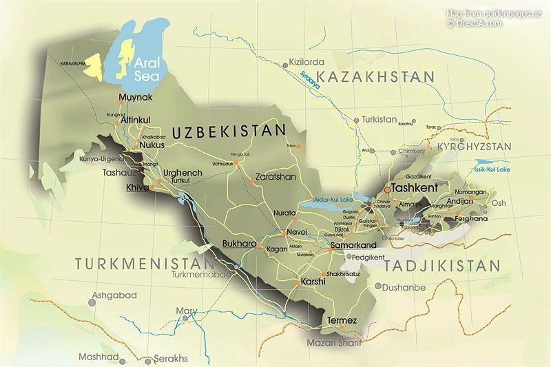 Map of uzbekistan uzbekistan geography map uzbekistan map suzani map of uzbekistan uzbekistan geography map uzbekistan map gumiabroncs Images