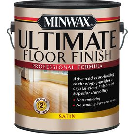 Minwax Ultimate Floor Finish Satin Water Based 128 Fl Oz Polyurethane 131030000 Floor Finishes Polyurethane Floors Minwax