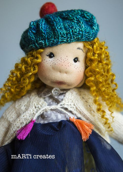 Charlotte - Art Cloth Doll by mARTi creates