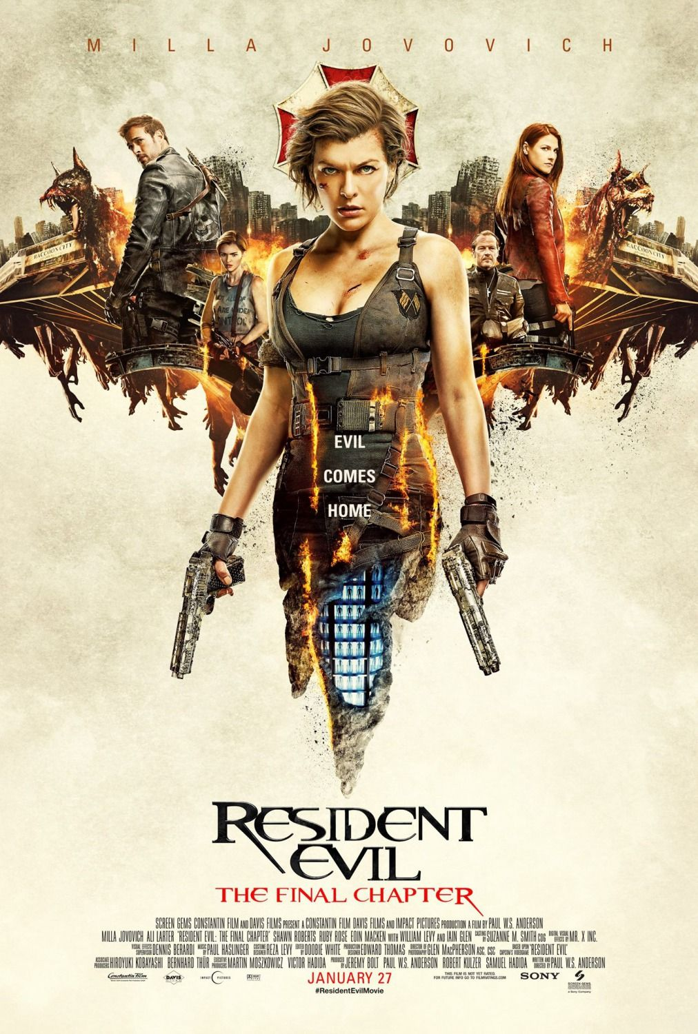 """Movie Review """"Resident Evil The Final Chapter"""" (2017"""