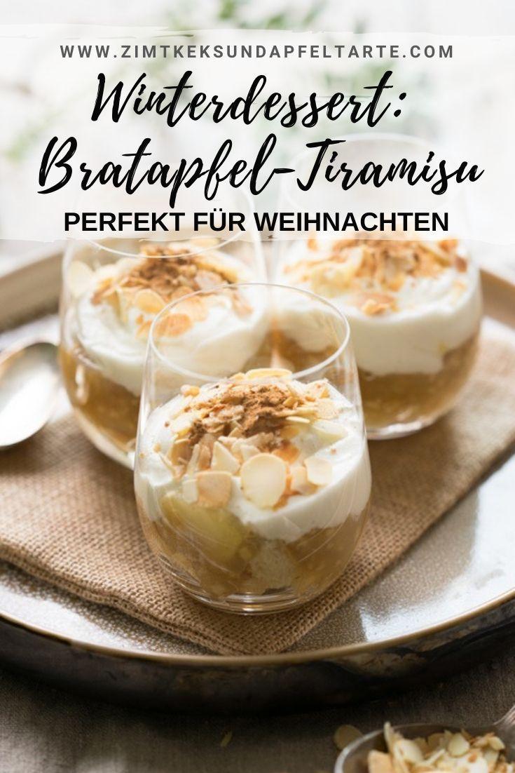 Winter-Dessert: würziges Bratapfel-Tiramisu - Zimtkeks und Apfeltarte