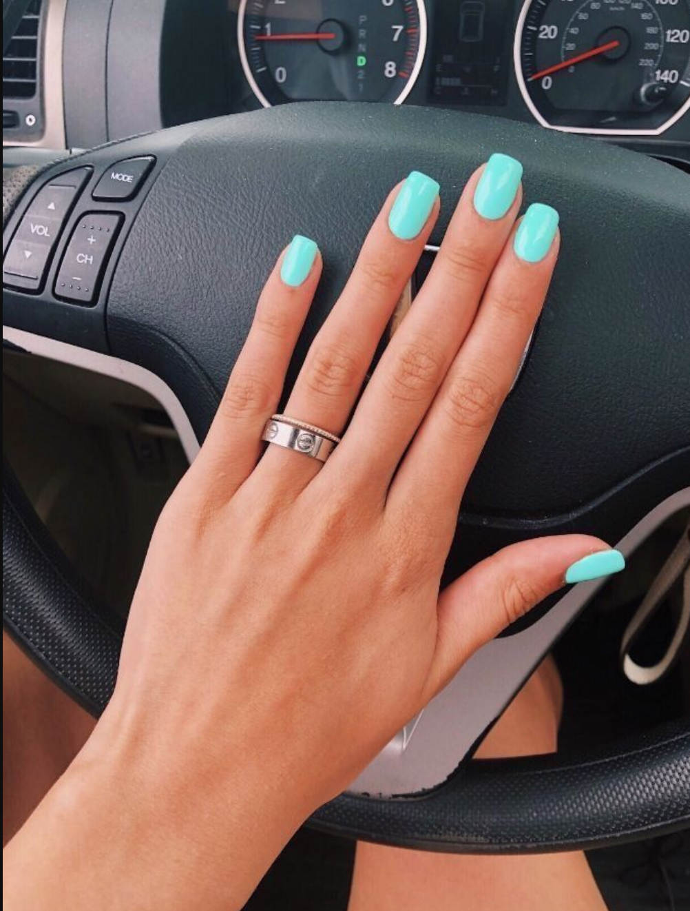 10 Popular Spring Nail Colors For 2020 An Unblurred Lady In 2020 Teal Nails Broken Nails Summer Nails Colors