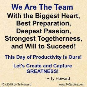 Teamwork Quotes For Work Ty Howard Quotes On Team Work « Ty Howard's Official Blog .well .
