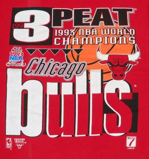 f1d6f853d757 90 S VINTAGE CHICAGO BULLS 3 PEAT CHAMPIONSHIP SHIRT