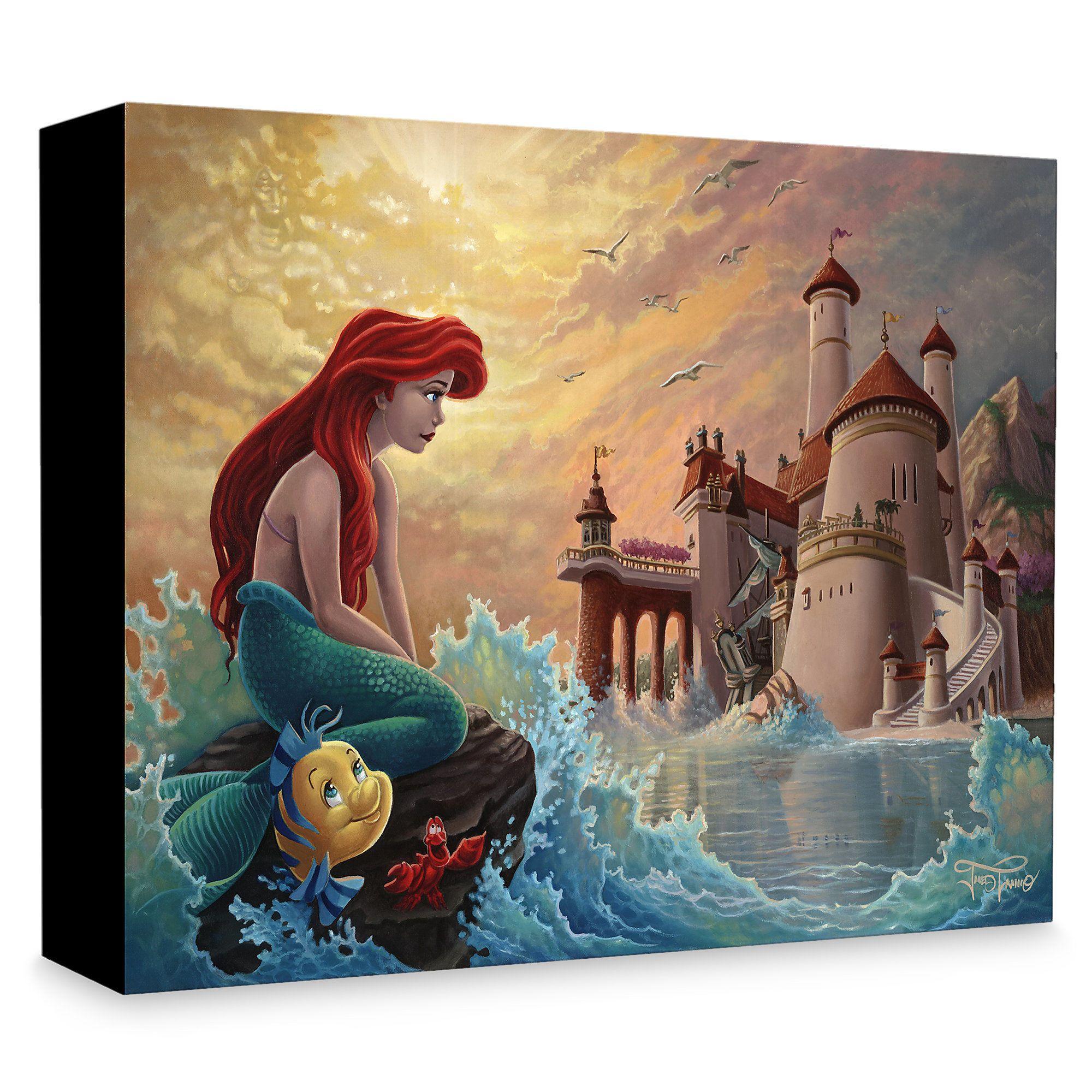 Ariel Sebastian and Prince Eric Princess Ariel Little Mermaid Inspirational Nursery Decor Wall Art Print Flounder