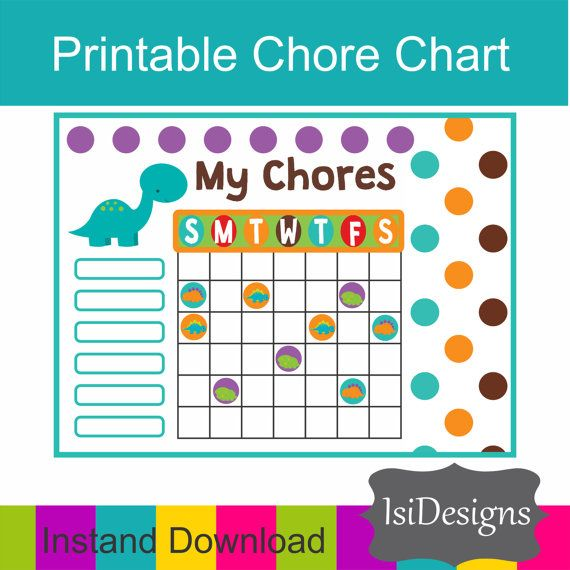 Place  this chore chart on your fridge  or attach to your clipboard, printing a new sheet each week. Or you can also make it reusable by laminating it or putting in your fa... #etsy #charts