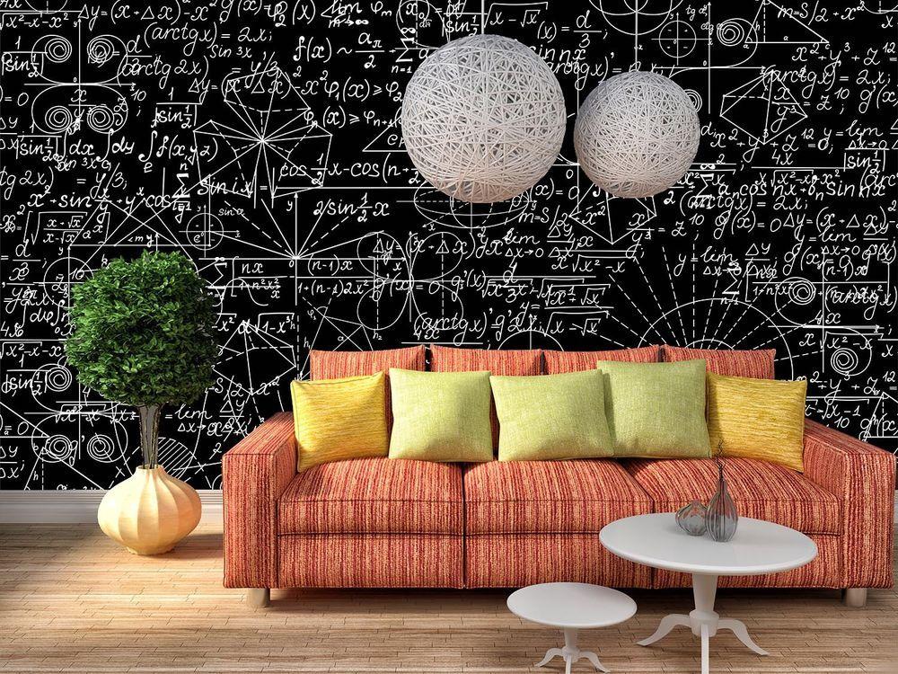 3d Dark Math Equation Wall Murals Wallpaper Decal Decor Home Kids Nursery Mural Wall Deco Nursery Mural Mural Wallpaper