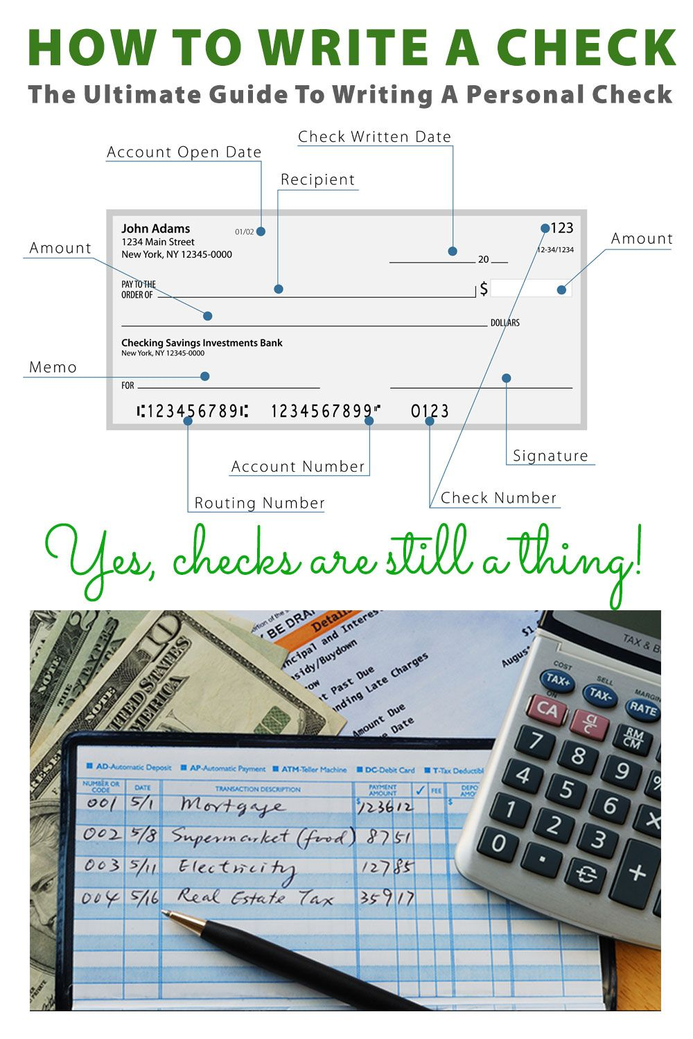 How To Write A Check The Ultimate Guide To Writing A Check Writing Checks Consumer Math Life Skills Class