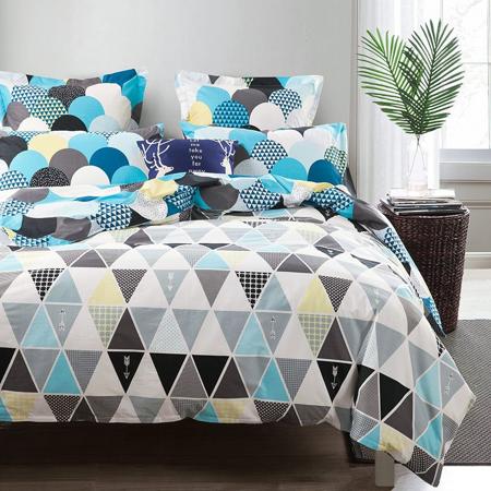Decorar con formas geométricas: decorar con triángulos a través de textiles como una colcha #decoracion #formasgeometricas #triangulos