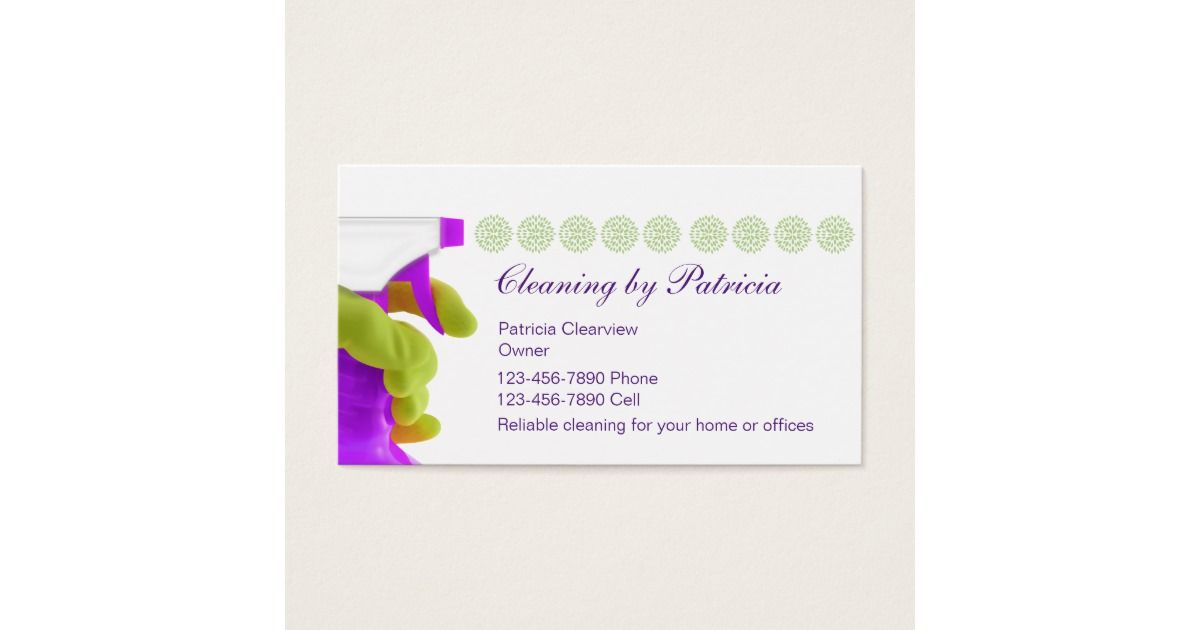 House Cleaning Business Cards | Cleaning business, Business and ...