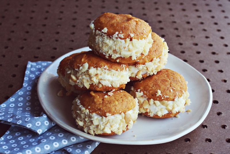 Photo of Pumpkin and Macadamia Whoopie Pies – A Beautiful Mess