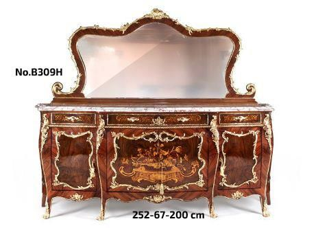 Louis XV Francois Linke Style Ormolu Mounted Buffet Antique Furniture  Reproductions Antique Commode Reproductions French Style