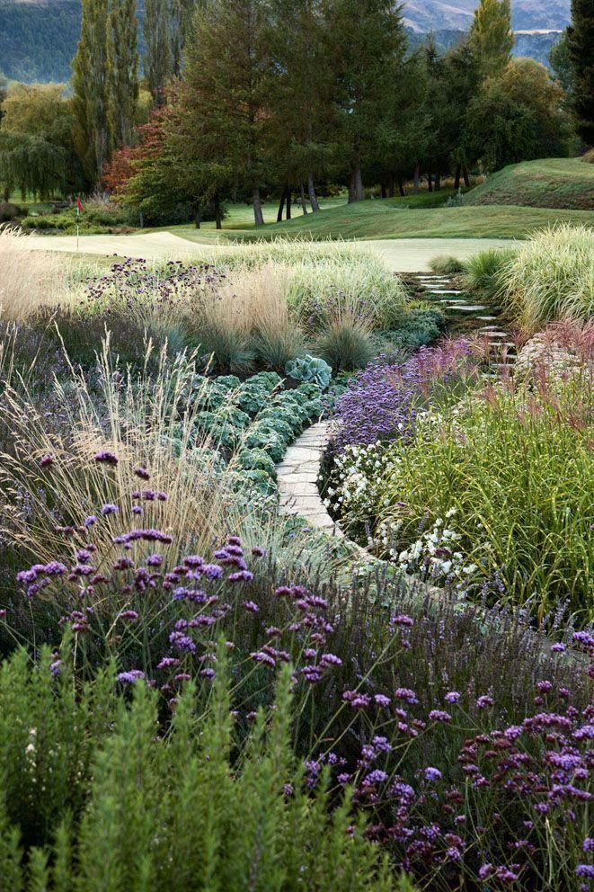 suzanne turley landscape design hill garden queenstown nz #backyardlandscapedesign