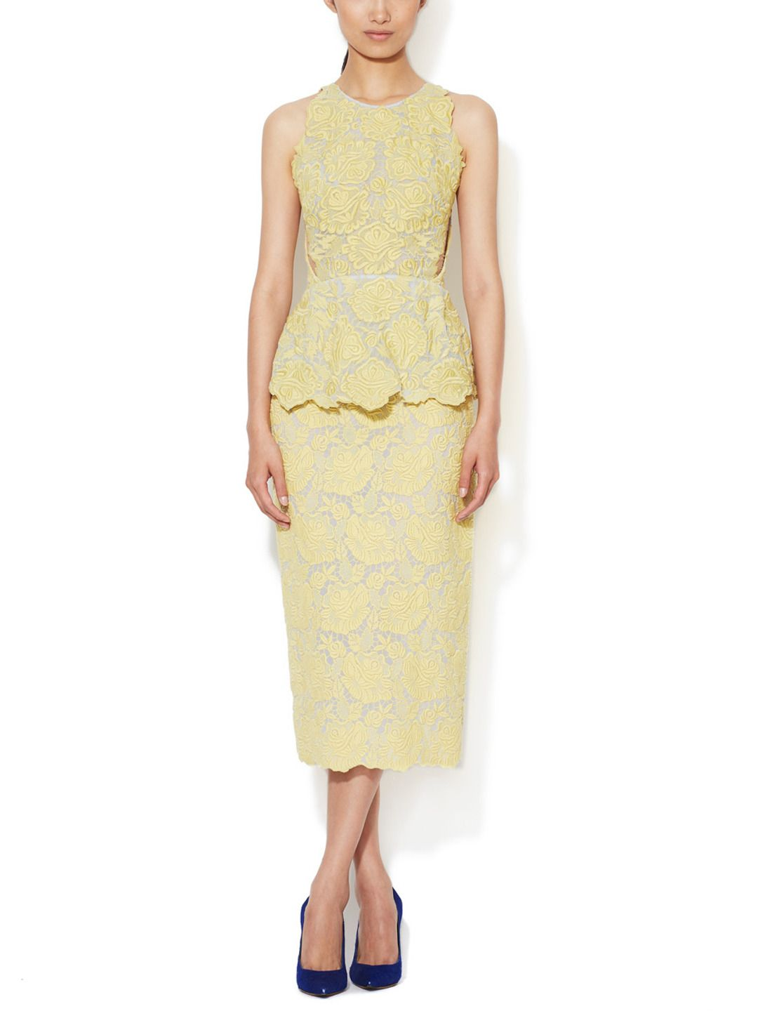 8aaf0bce5b4 Embroidered Overlay Peplum Dress from Stella McCartney Accessories    Apparel on Gilt