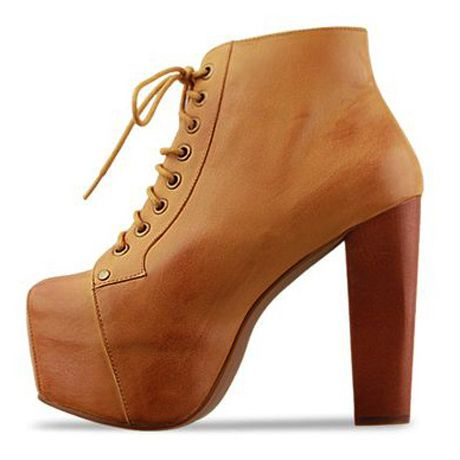 Chic Lace Up Brown Chunky Heel Short Boots | Dress Up | Pinterest ...