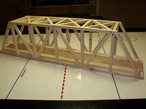 "G scale 48"" warren truss custom made bridge extra tall ..."