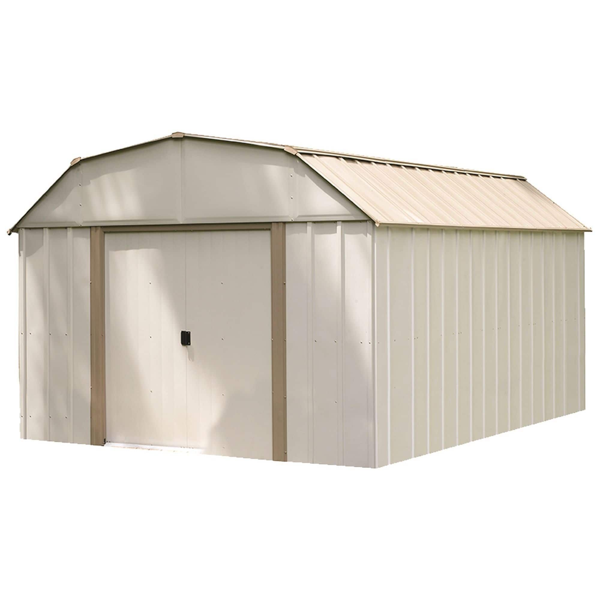 Arrow Lexington Lx1014 Galvanized Steel Storage Shed 10 X 14 Steel Storage Sheds Shed Storage Storage Shed Kits