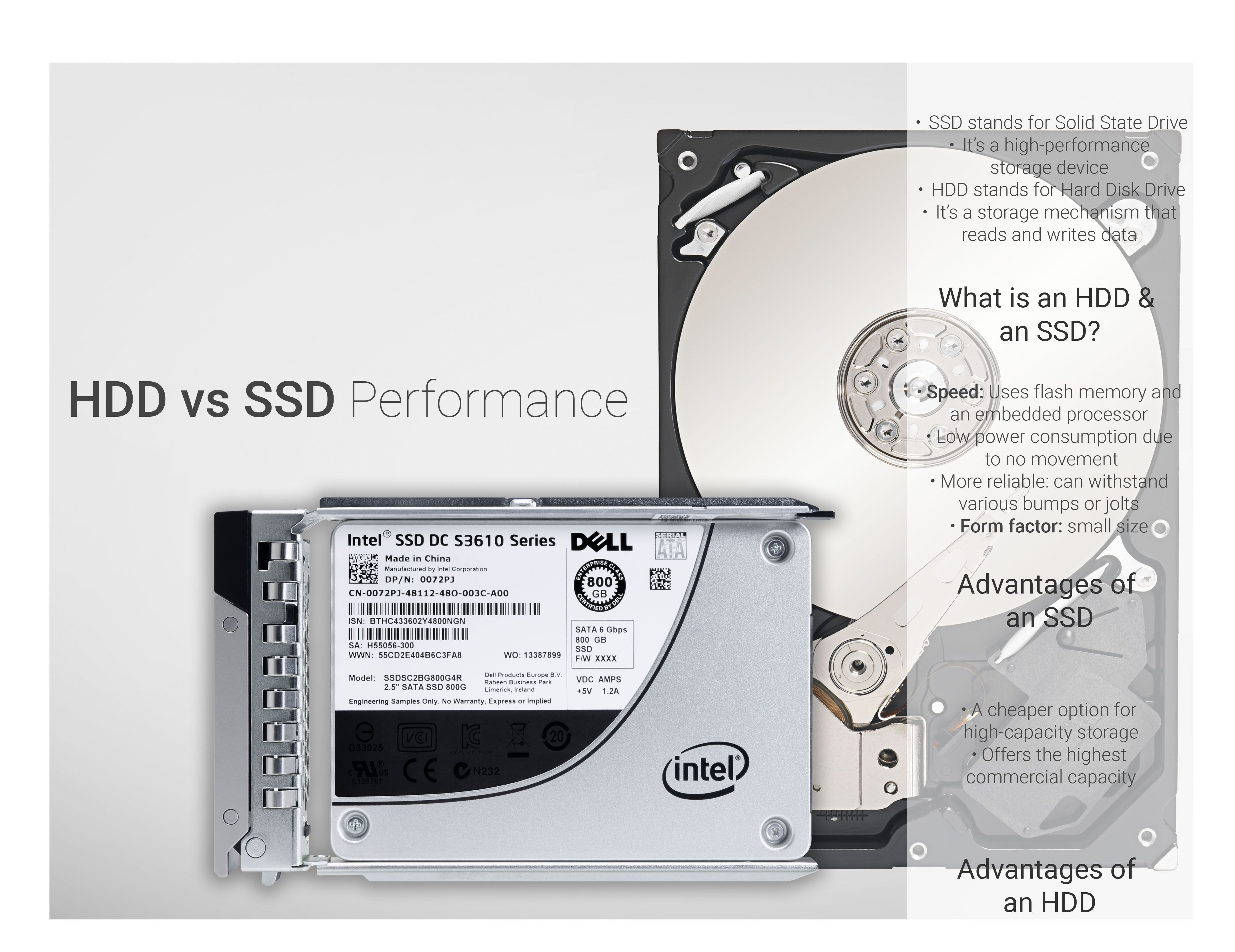 A hard drive (HDD) or a Solid-State drive (SSD), what is