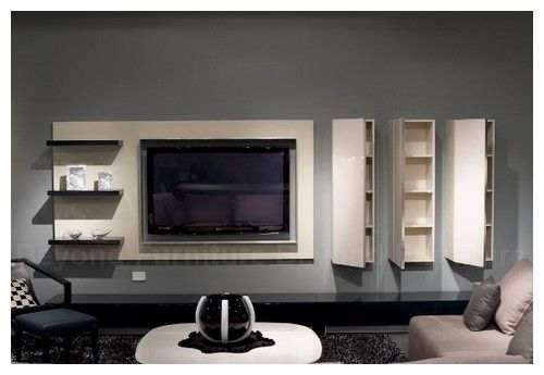 Designs For Hanging Tv | Photos Of Modern TV Cabinets With Storage System  And Decorating Ideas