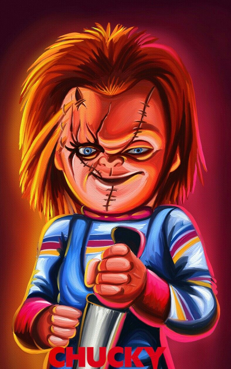 CHUCKY CHILDS PLAY Horror cartoon, Kids playing, Horror