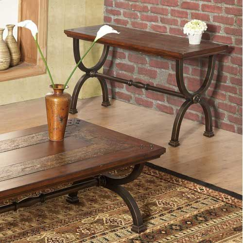 Ord Sofa Table With Wrought Iron Legs More