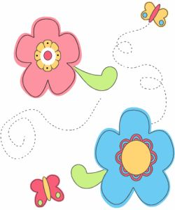 Flowers butterflies | flower clipart | Flower background