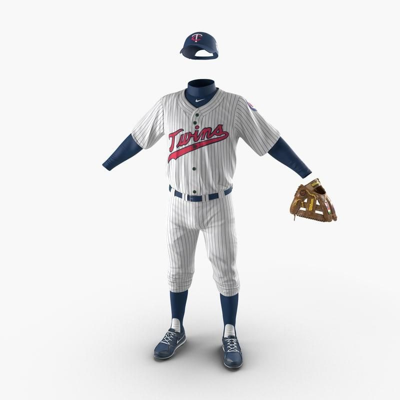 Baseball Player Outfit Twins 3d Model Ad Player Baseball Outfit Model Baseball Outfit Chic Fall Outfits Model