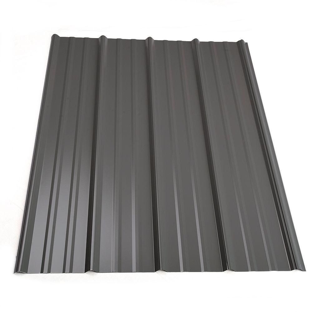 Metal Sales 8 Ft Classic Rib Steel Roof Panel In Charcoal 2313217 The Home Depot Roof Panels Steel Roof Panels Metal Roof Panels