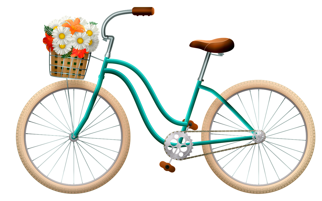 Free Image on Pixabay Bicycle, Basket With Flowers