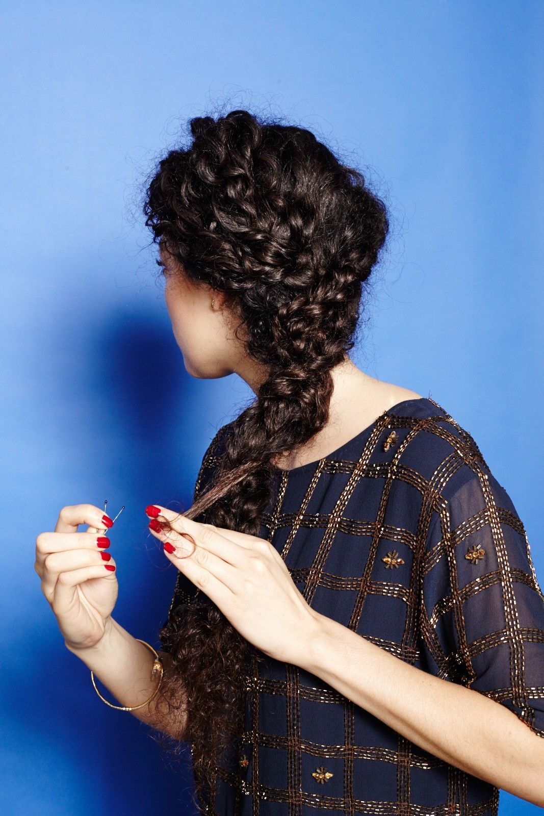 braid curly hair - cute