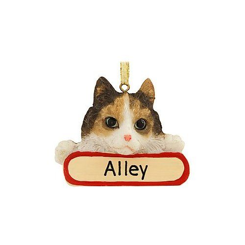 Personalized Calico Cat Ornament Home Kitchen Christmas Ornaments Ornaments Cats