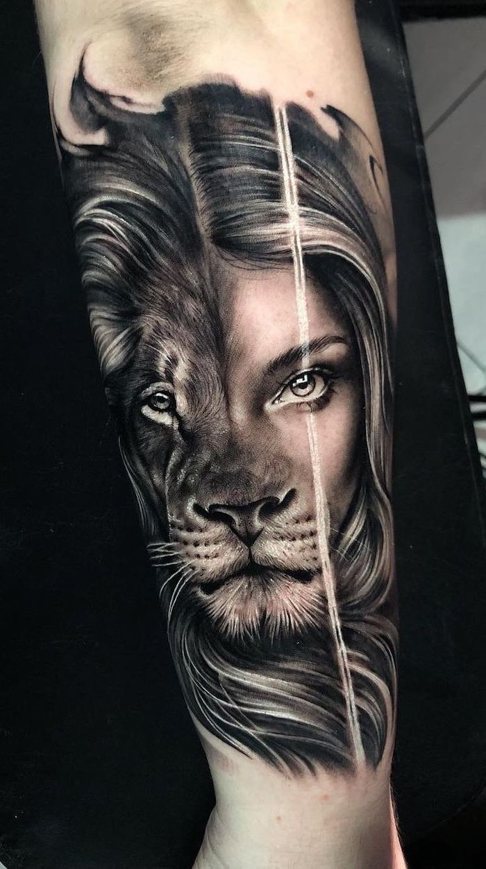 1001 Ideas For A Lion Tattoo To Help Awaken Your Inner Strength In 2020 Lion Head Tattoos Lion Tattoo Sleeves Female Lion Tattoo