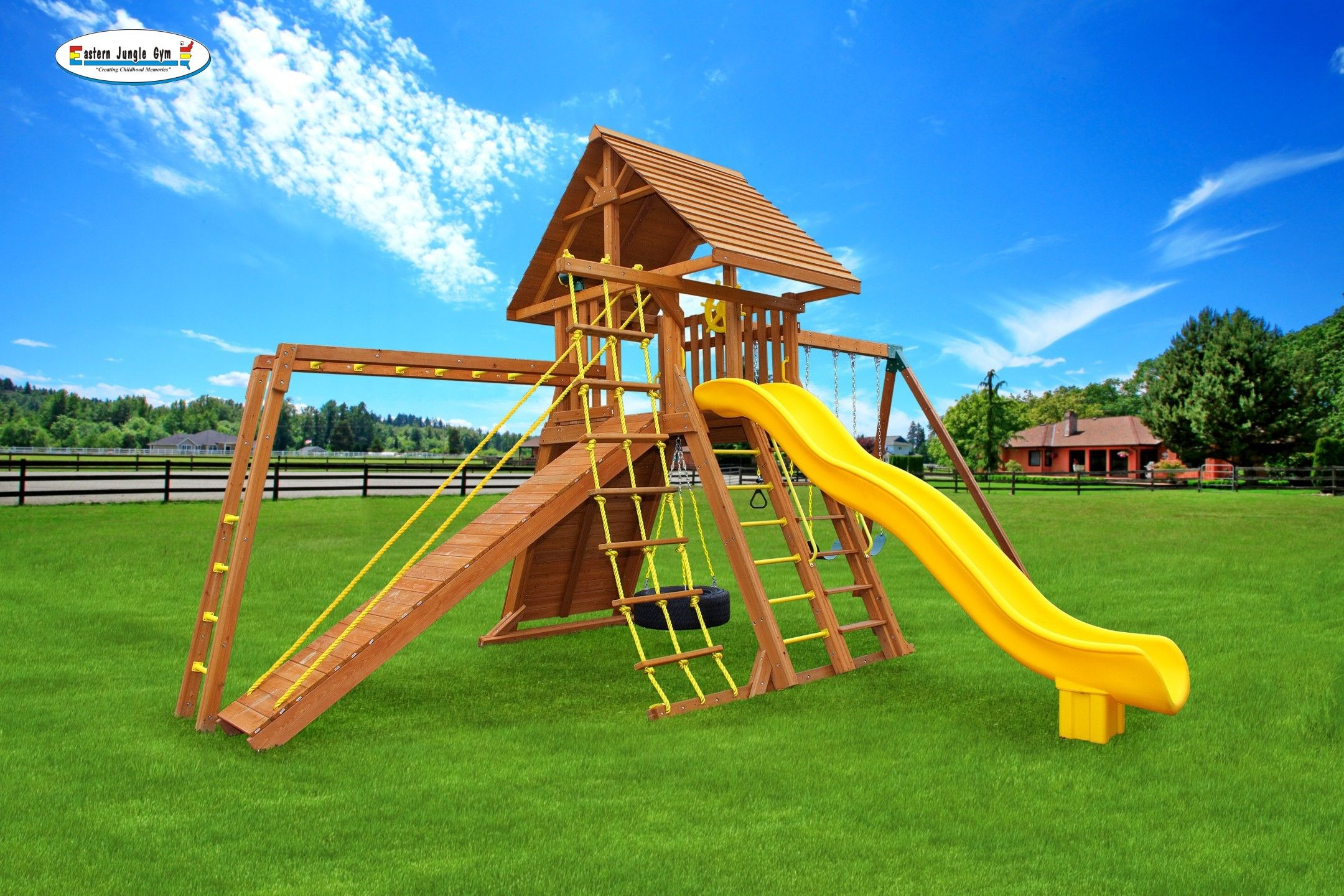 extreme 7 backyard playset jungle gym swings and gym