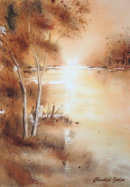 Automne Chantal Jodin Paysage Automne Aquarelle Peinture