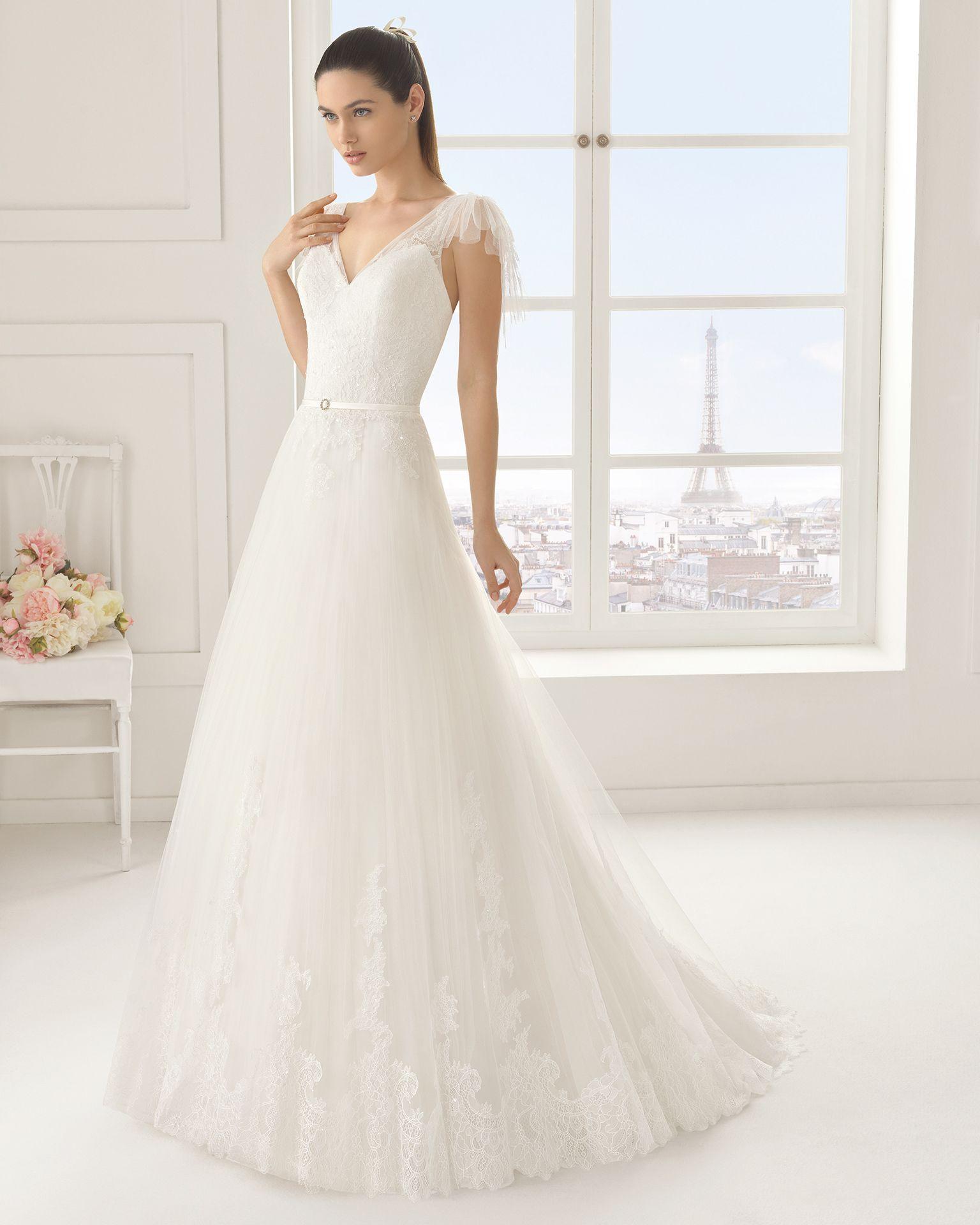 Vestidos de novia y vestidos de fiesta | Rosa clará, Vestidos de ...