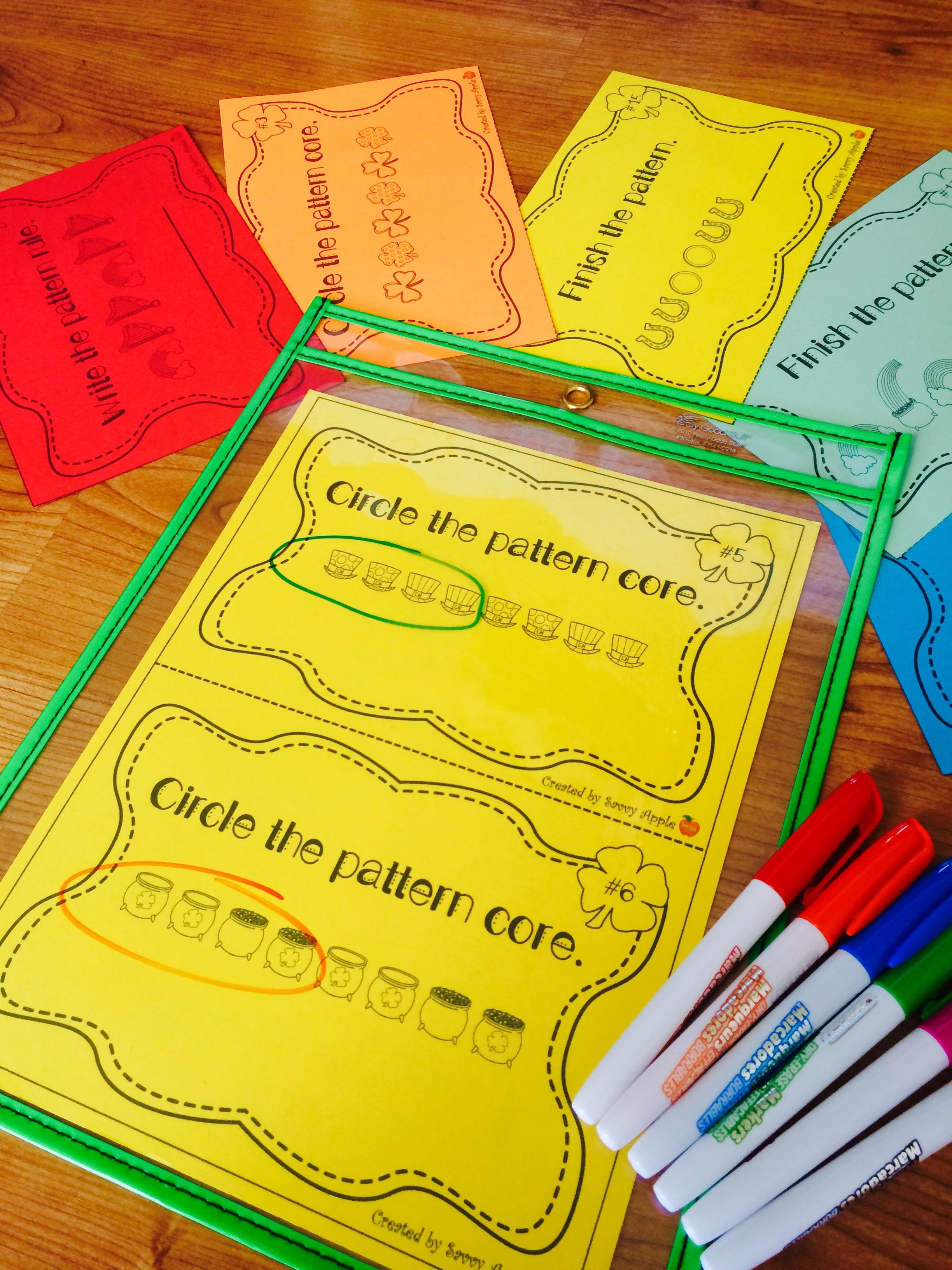 Repeating Pattern Task Cards For St Patrick S Day