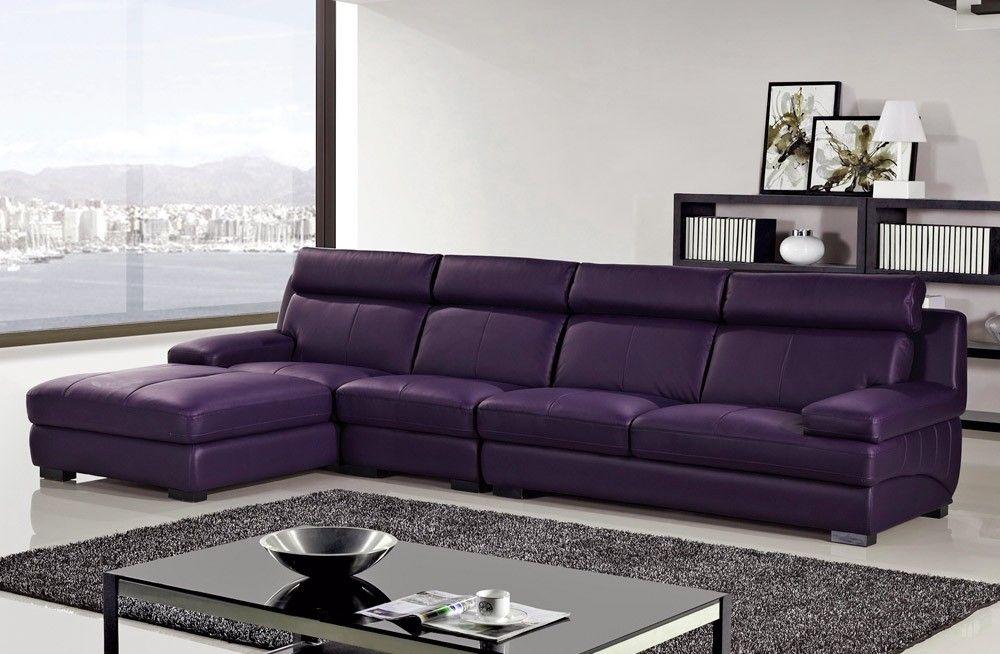Purple Leather Sofa Modern Sofa