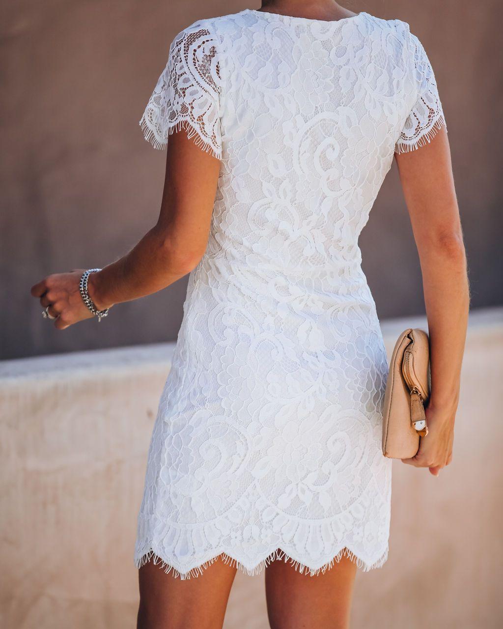 Beyond Words Lace Dress White Final Sale Lace White Dress White Bridal Shower Dress Engagement Party Dresses [ 1280 x 1024 Pixel ]