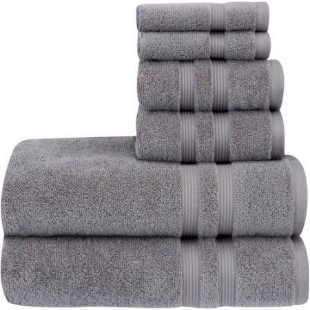 Home Grey Towels Bathroom Mainstays Bath Towels