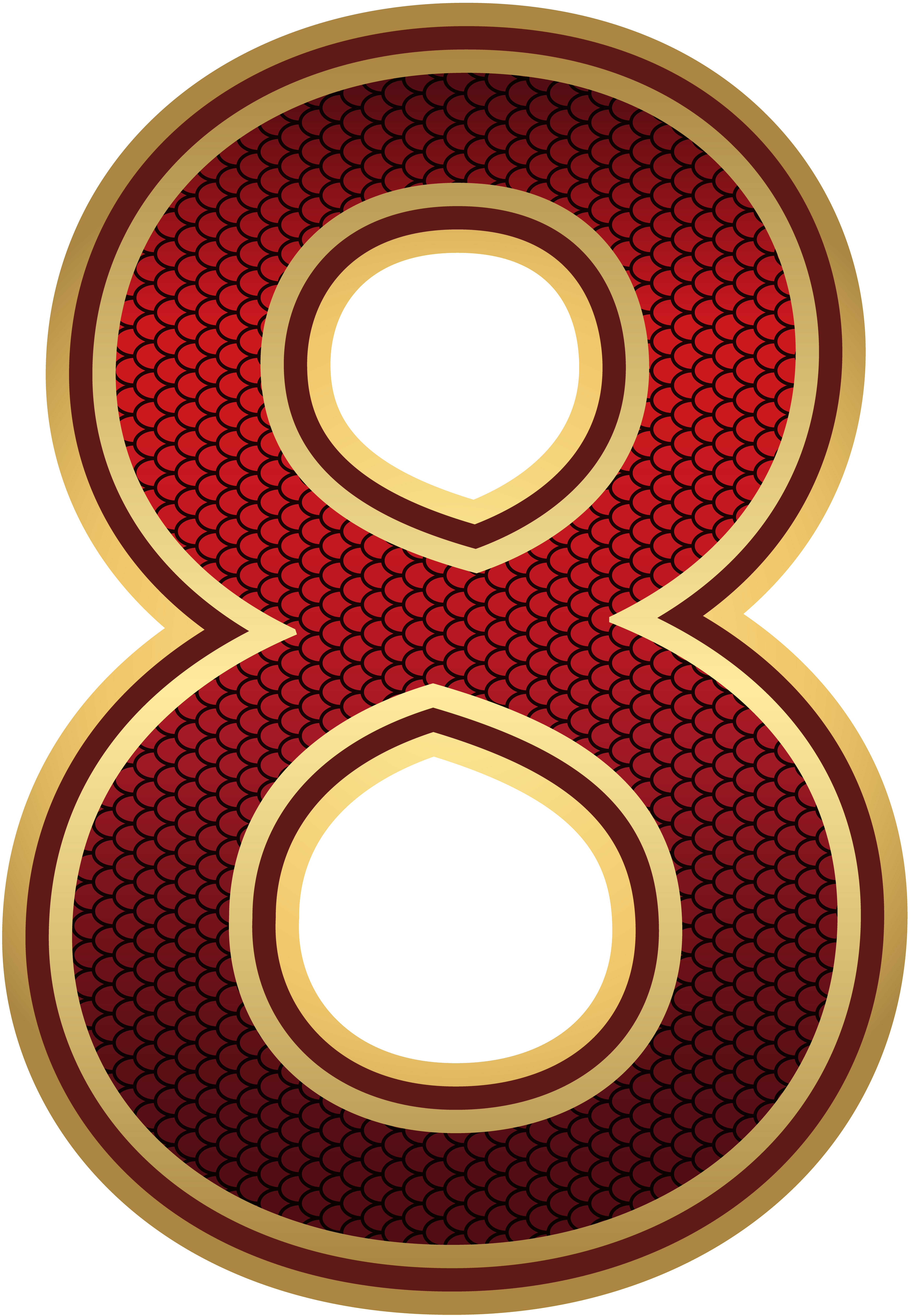 Red and Gold Number Eight PNG Image | Gallery Yopriceville ...