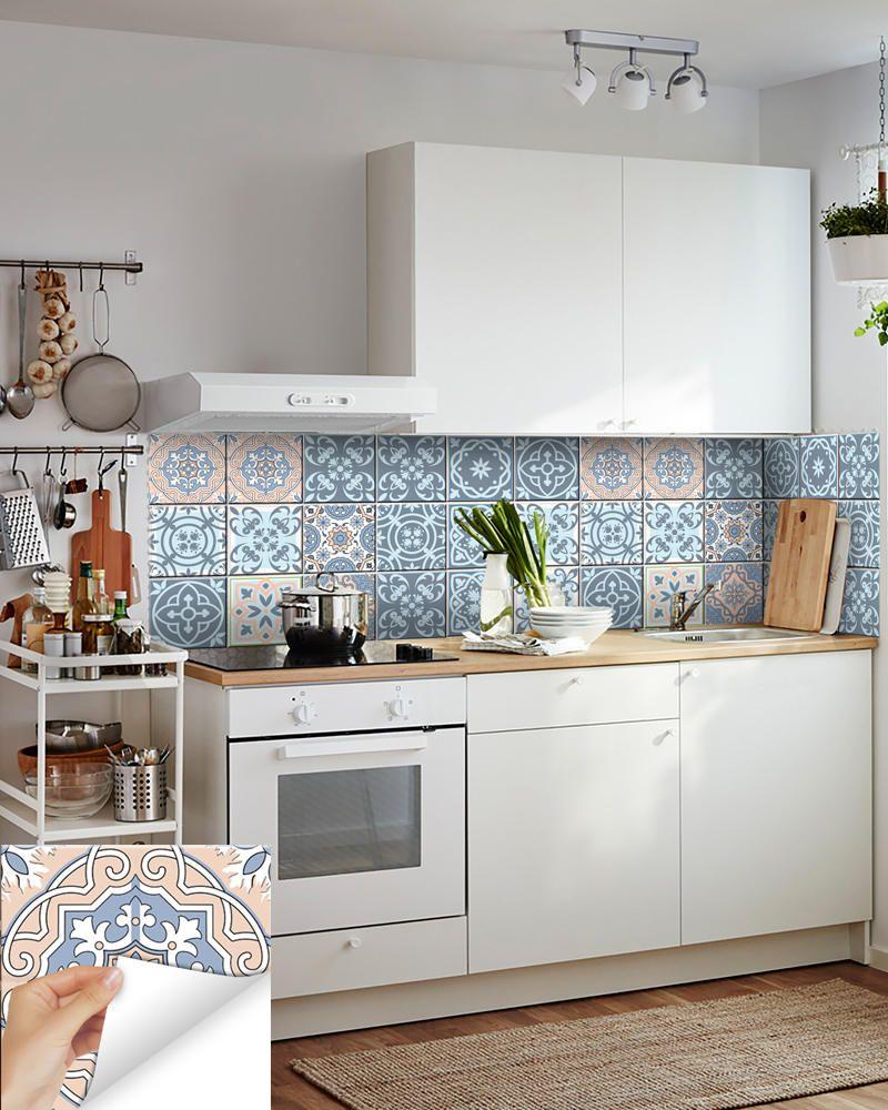 Piastrelle Per Parete Cucina spagnolo set di 24 piastrelle decalcomanie piastrelle