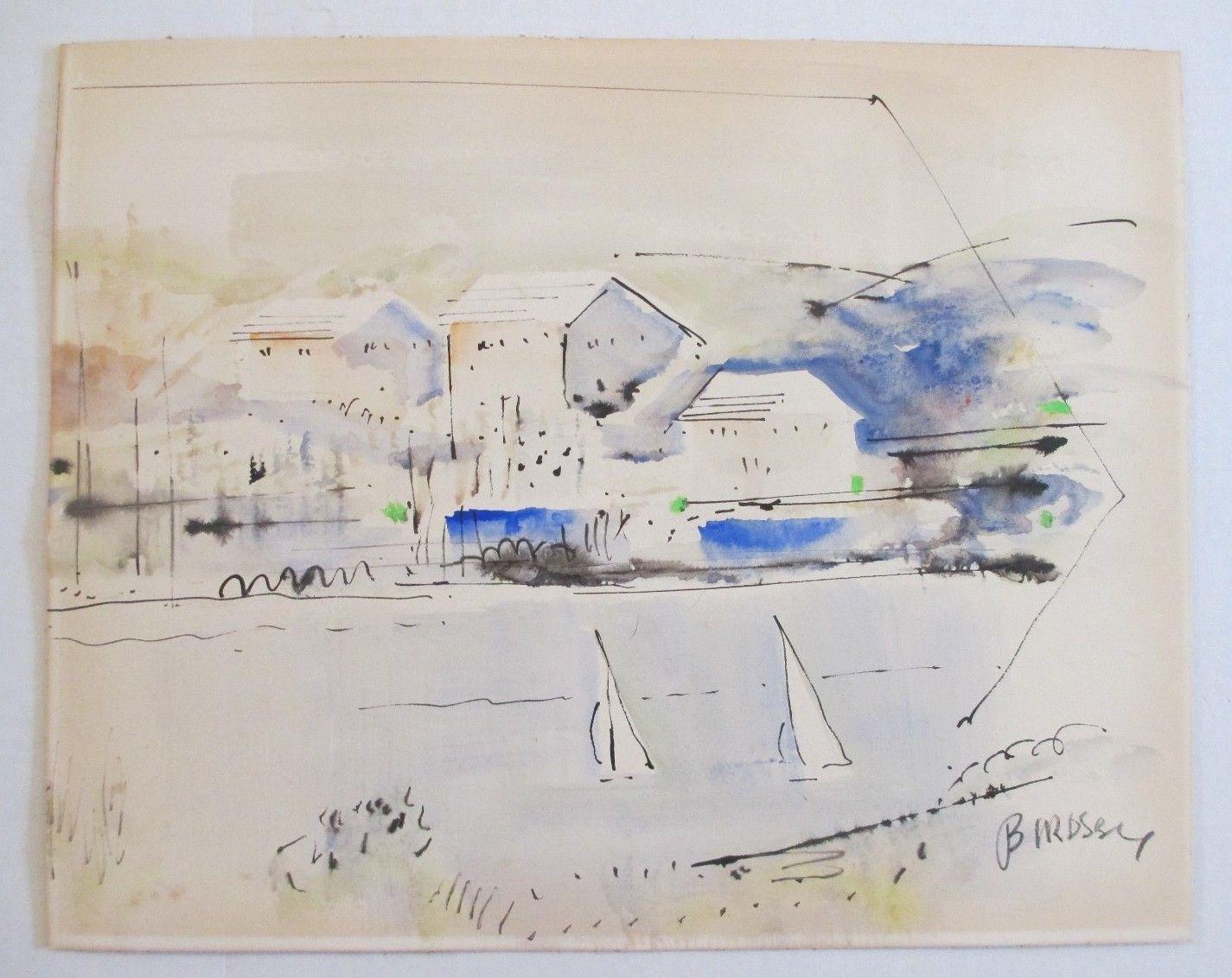 Alfred Birdsey Bermuda Vintage Coastal Impressionism Nautical