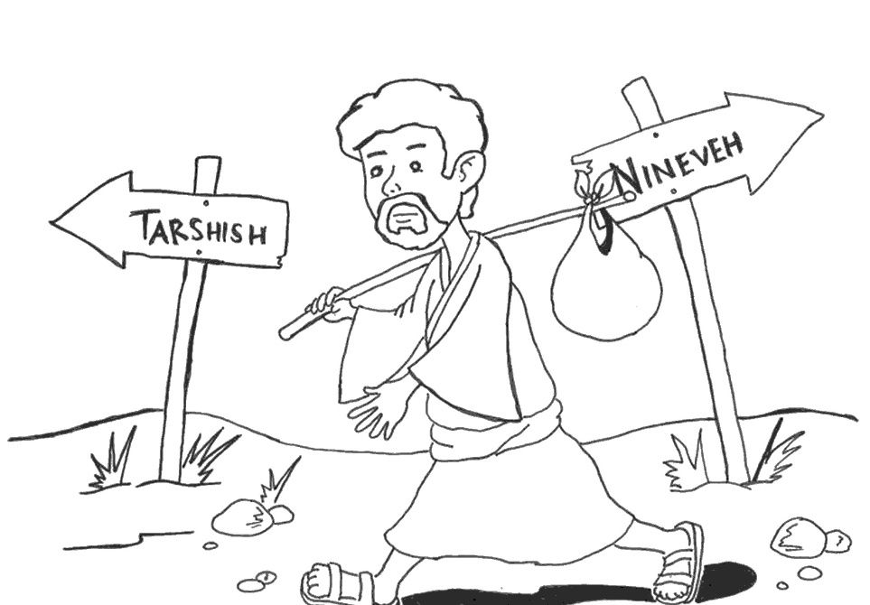 Jonah going to Tarshish instead of Nineveh (Jonah 1) | Coloring ...