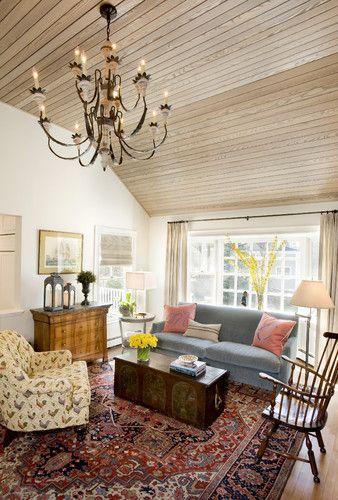 eclectic area rug design for living room | Karen Joy Interiors - eclectic - living room - boston ...