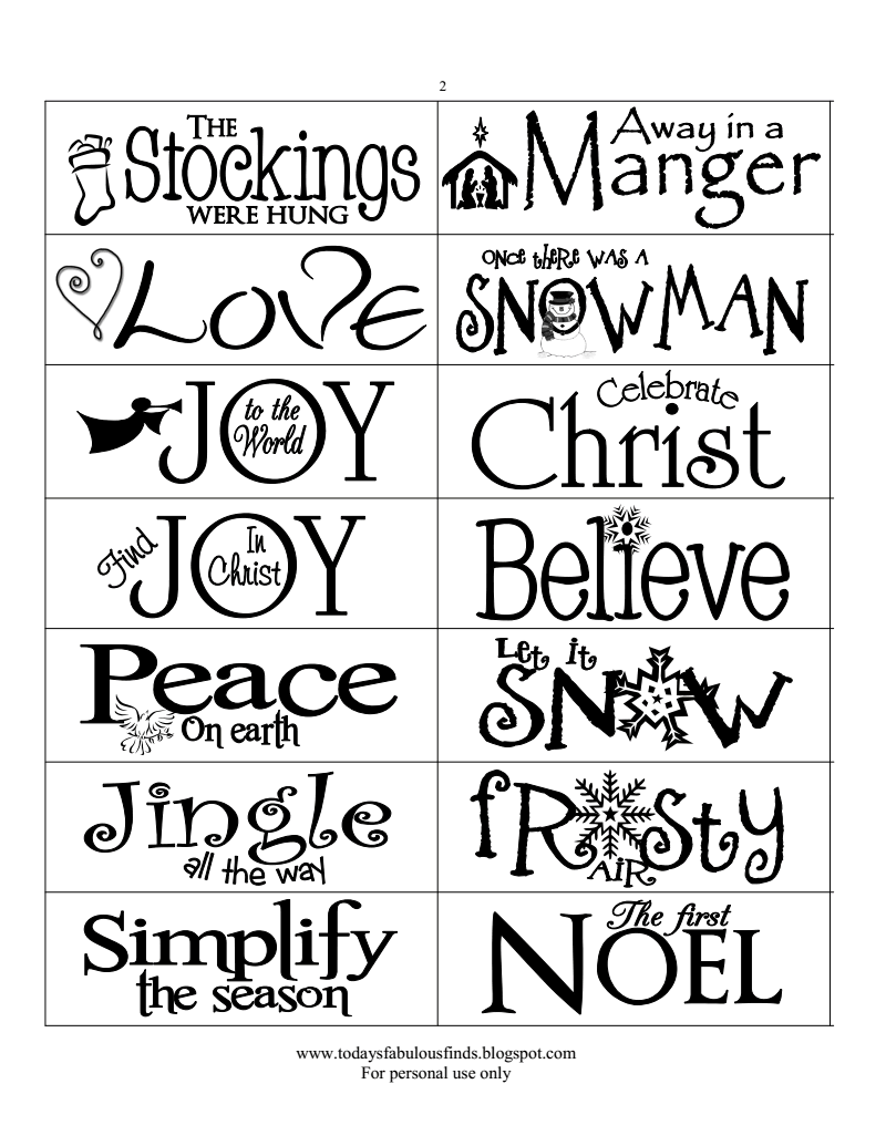 Printable Paint Stick Ornament Templates, Today\'s Fabulous Finds.pdf ...